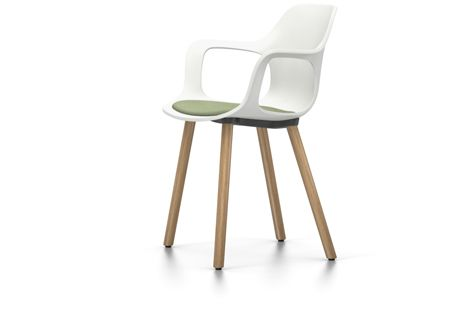 HAL Armchair Wood With Seat Pad by Vitra