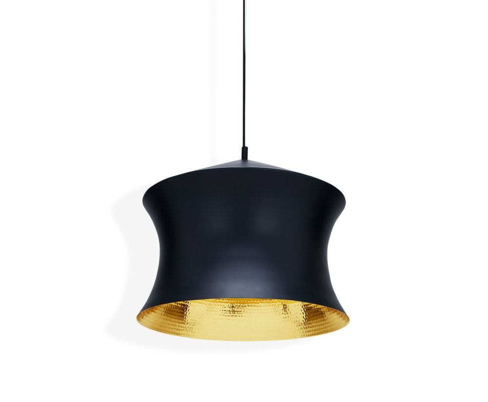 Beat Waist Black Pendant Lamp by Tom Dixon