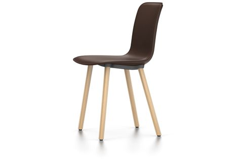 HAL Leather Wood Chair by Vitra