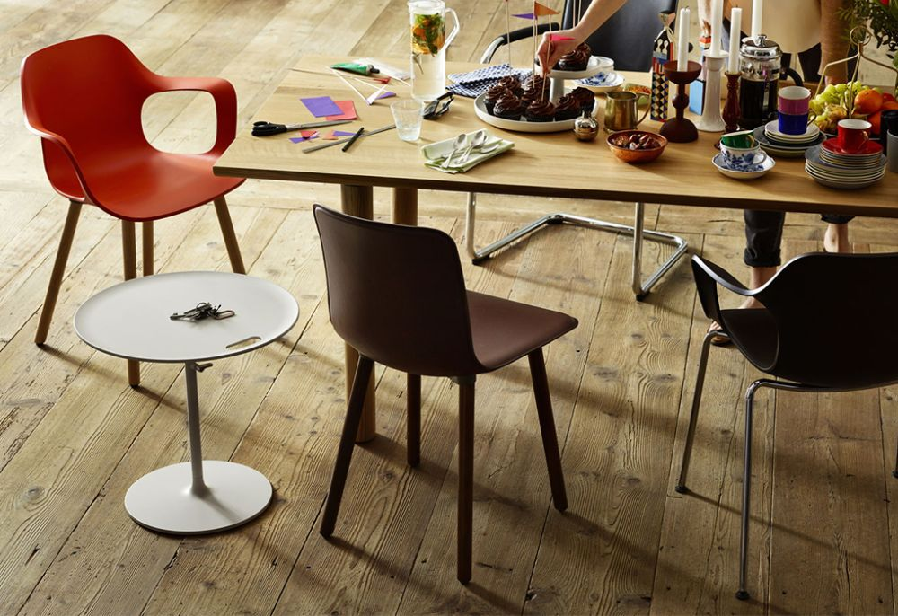 The Combination Of An Upholstered, Leather Covered Seat Shell And A  Striking Four Legged Wooden Base Makes HAL Leather Wood A Very Elegant And  Stylish ...