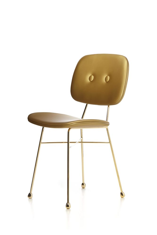 sc 1 st  Clippings & The Golden Chair Matt Gold synthetic leather by Nika Zupanc for moooi