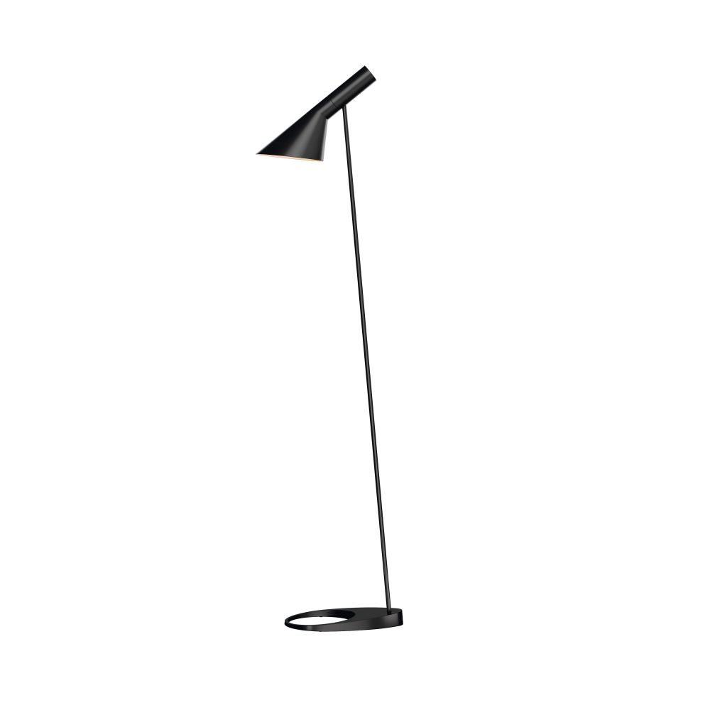 AJ Floor Lamp UK Plug, Black by Arne Jacobsen for Louis Poulsen