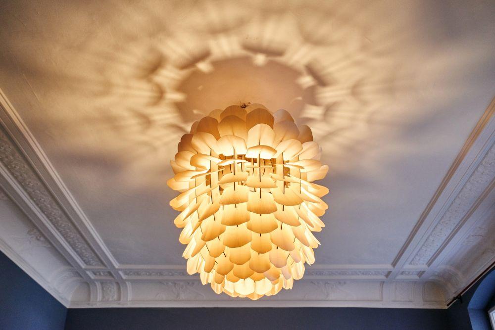 zappy pendant light oak by niklas jessen for schneid. Black Bedroom Furniture Sets. Home Design Ideas