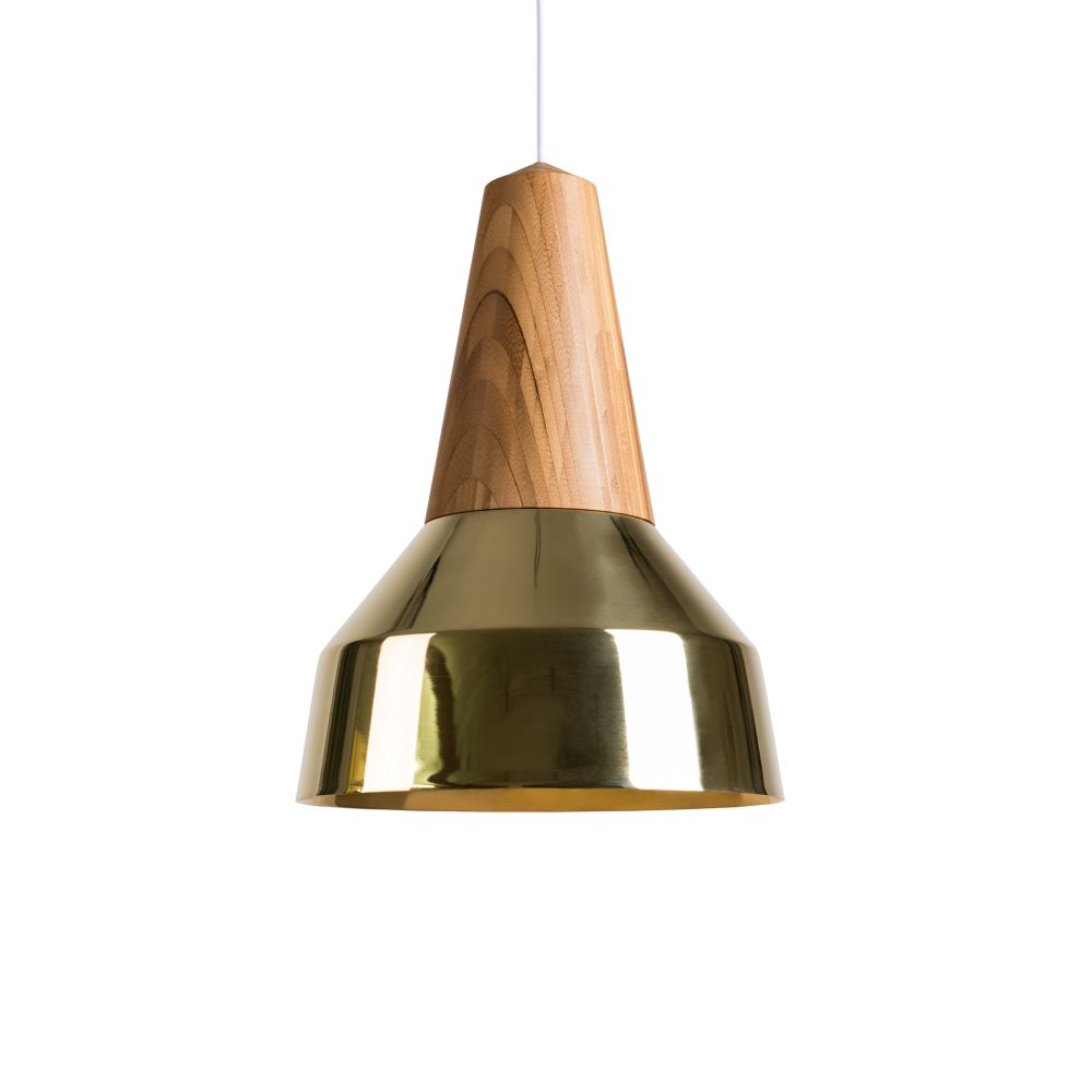Eikon Ray Pendant Light in Bamboo and Gold