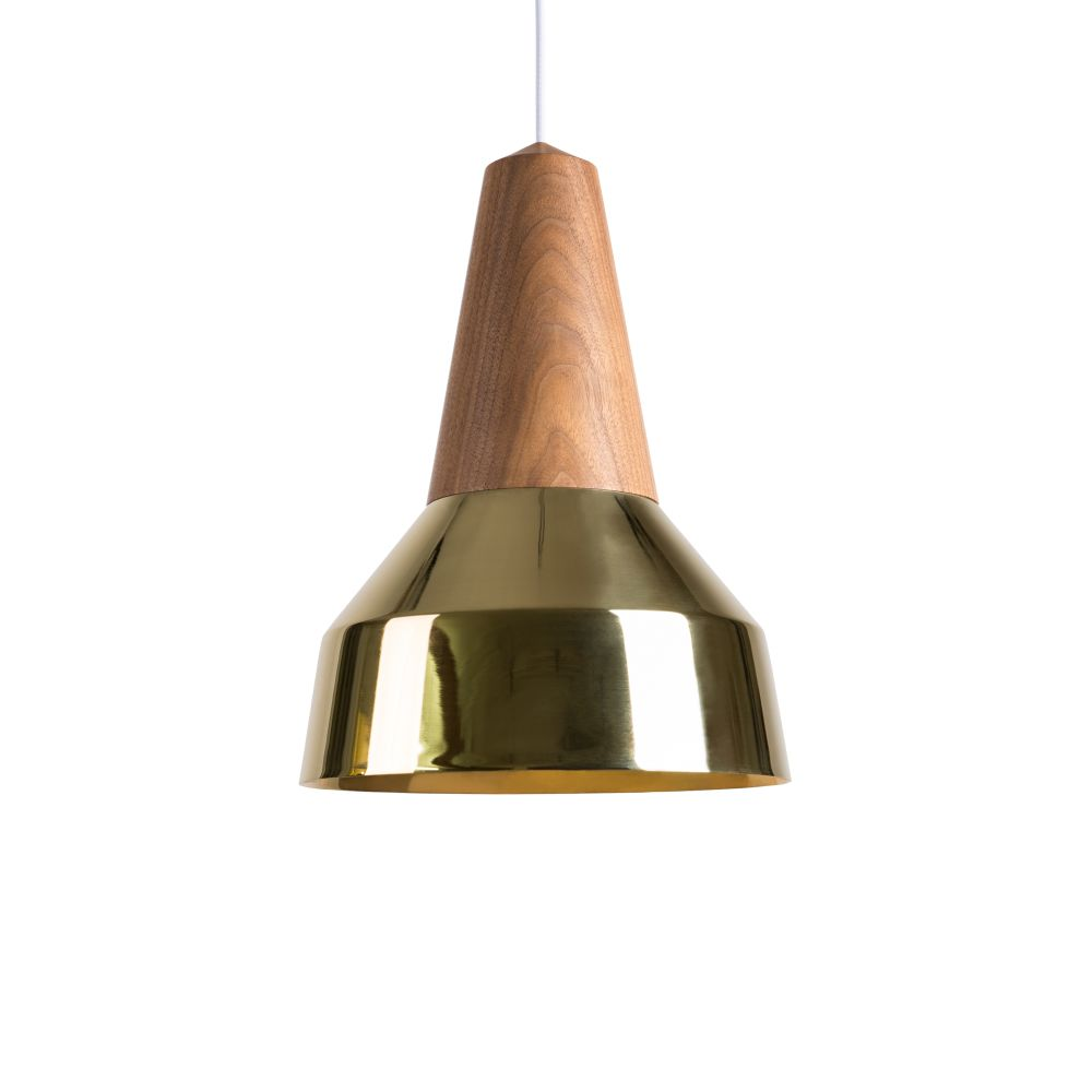 Eikon Ray Pendant Light in Walnut and Gold