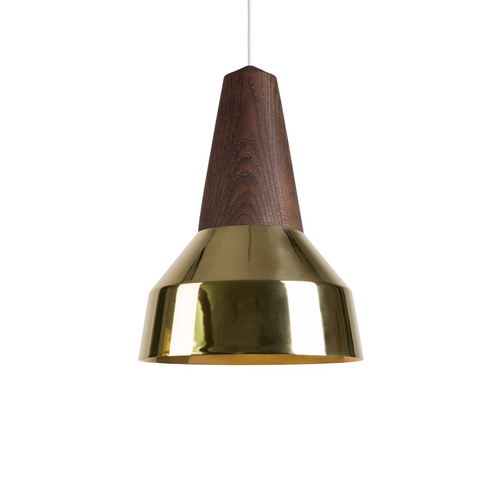 Eikon Ray Pendant Light in Black Oak and Gold
