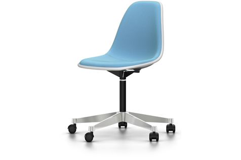 PSCC Eames Plastic Side Chair With Full Upholstery by Vitra