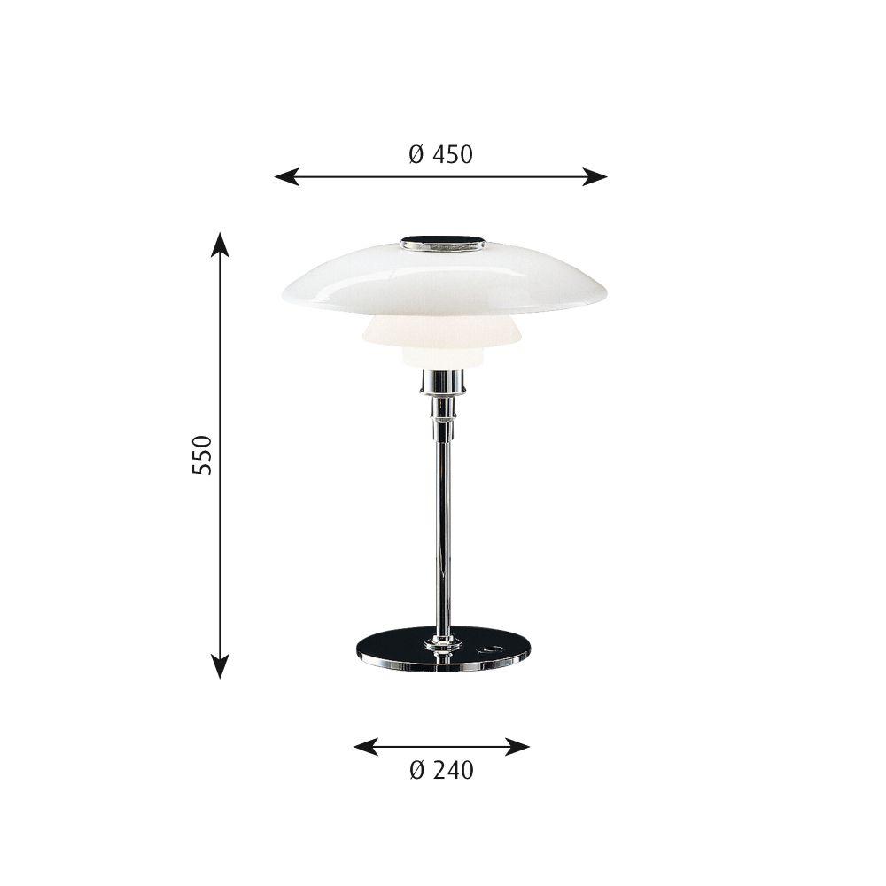 PH 4½-3½ Glass Table Light by Louis Poulsen