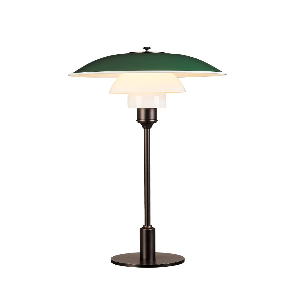 Ph 3 2 table lamp uk plug green by louis poulsen aloadofball