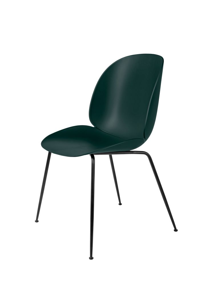 Beetle Dining Chair - Conic Base Set of 4 by Gubi