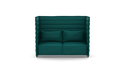 Alcove Plume Contract Highback Two-Seater by Vitra