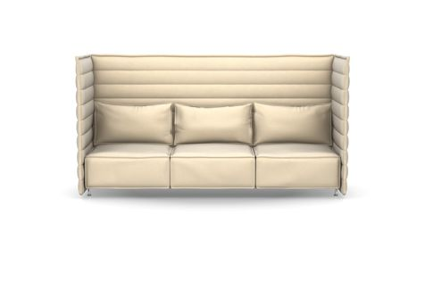Alcove Plume Contract Highback Three-Seater by Vitra