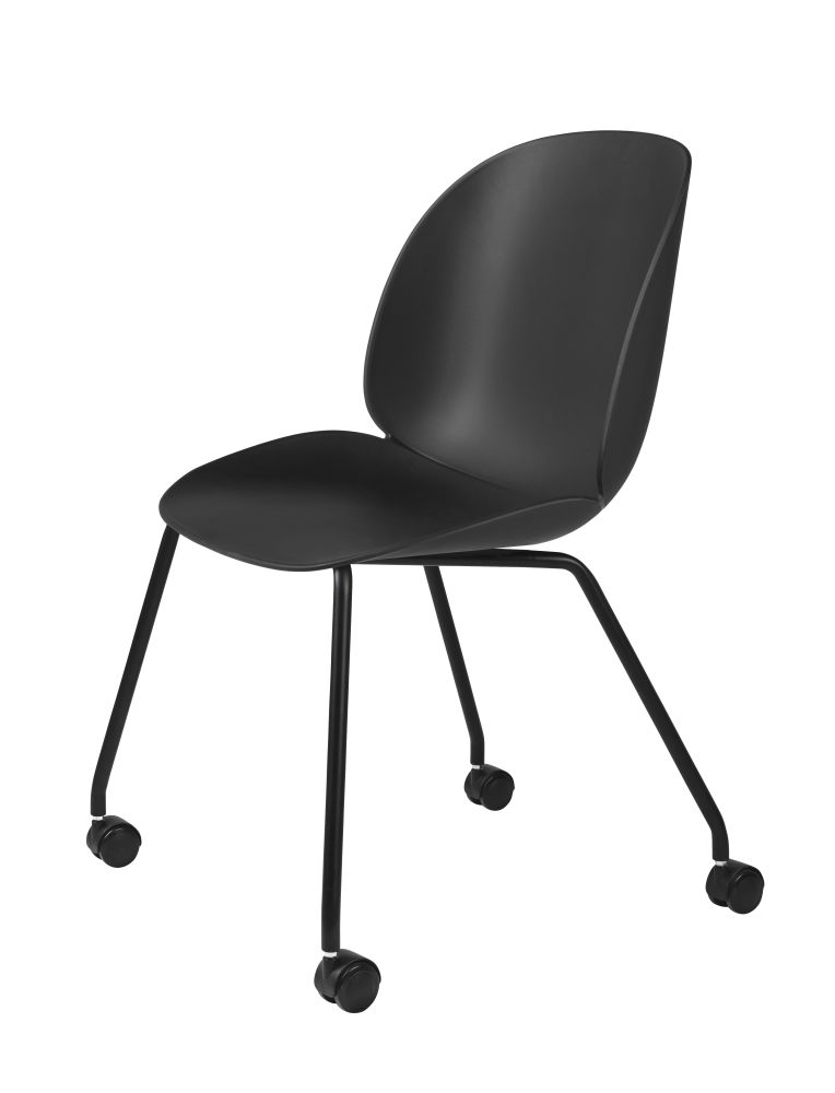 Beetle Dining Chair - Castor Base by Gubi