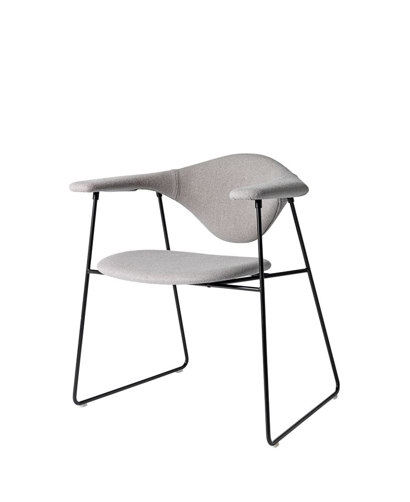 Masculo Dining Chair Sledge Base by Gubi