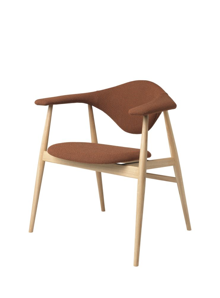 Masculo Dining Chair - Wood Base by Gubi