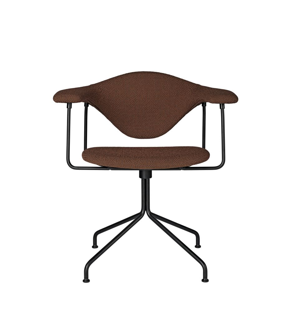 Masculo Dining Chair - Swivel Base by Gubi