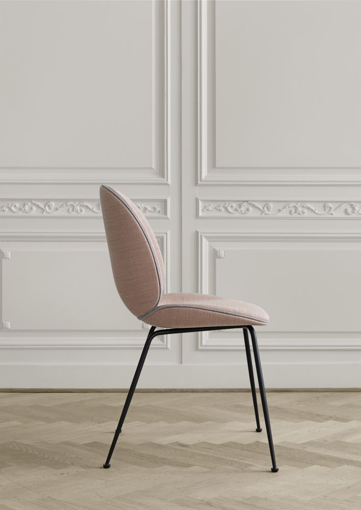 Beetle Dining Chair Conic Base Fully Upholstered By
