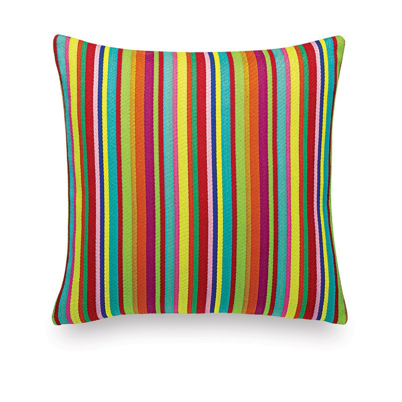 Millerstripe Multicolored Bright Classic Pillow Maharam by Vitra