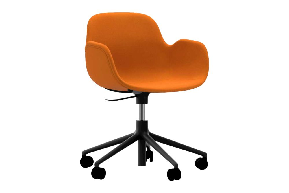 Form Swivel Armchair 5W Gaslift - Fully Upholstered by Normann Copenhagen