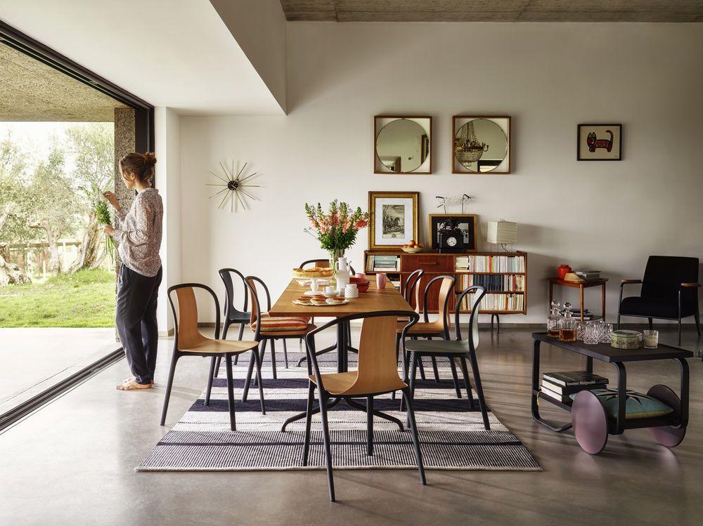 belleville rectangular dining table melamine whitevitra
