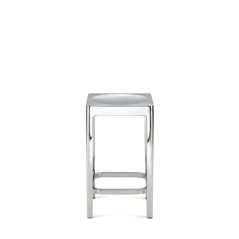 Emeco Counter Stool Hand Brushed by Philippe Starck for Emeco