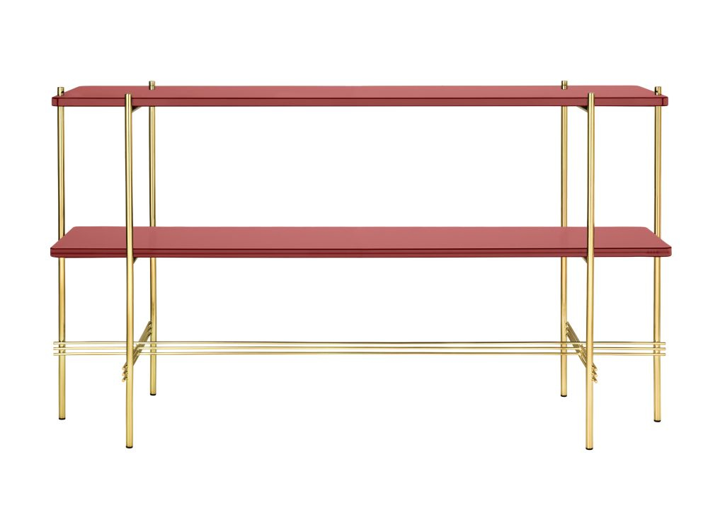 TS Rectangular Console Table with Two Glass Plates by Gubi