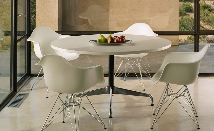 eames round table 3 seats by vitra. Black Bedroom Furniture Sets. Home Design Ideas