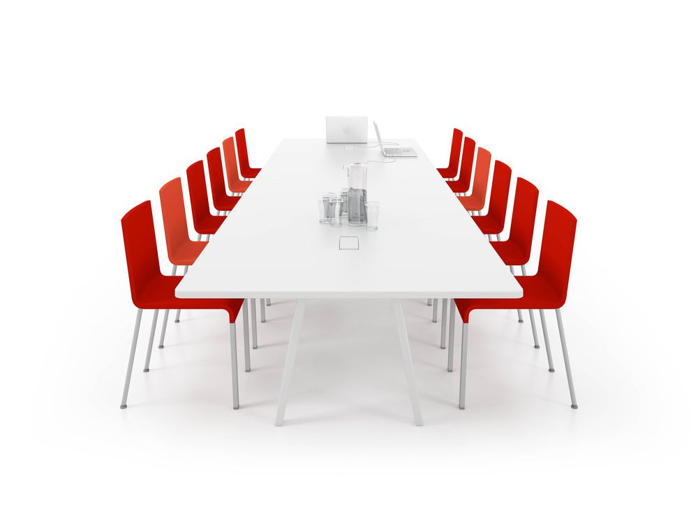 Joyn Conference Table With Current Rotax By Vitra - Red conference table