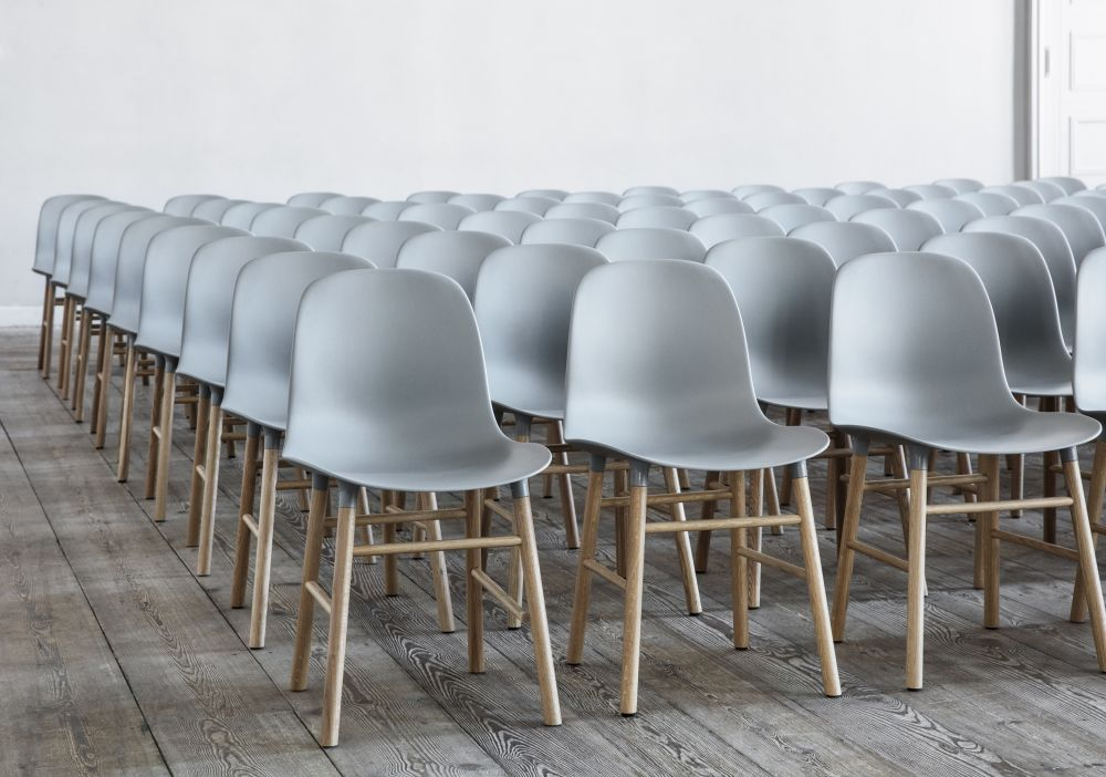 Normann Copenhagen Stoel : Form dining chair nc lacquered steel white by normann copenhagen