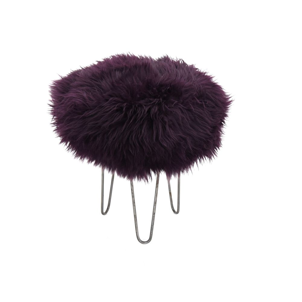 Holly Baa Stool in Aubergine