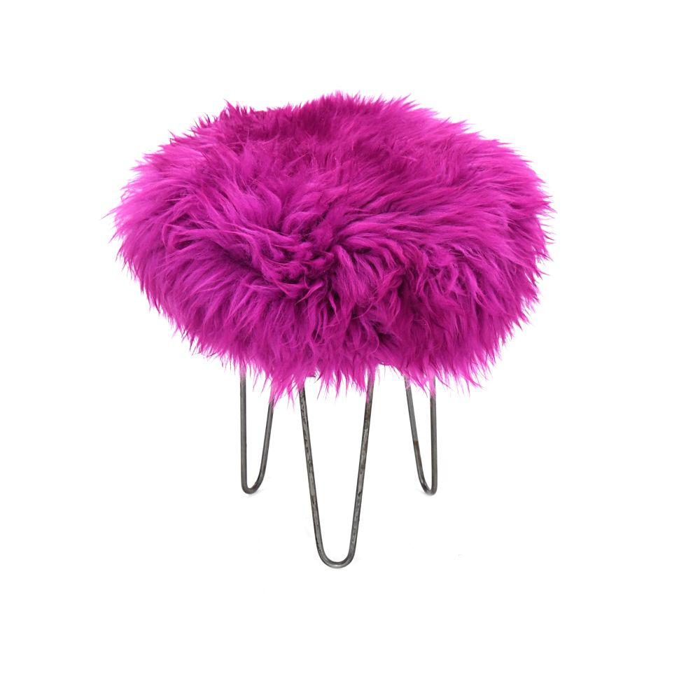 Holly Baa Stool in Cerise