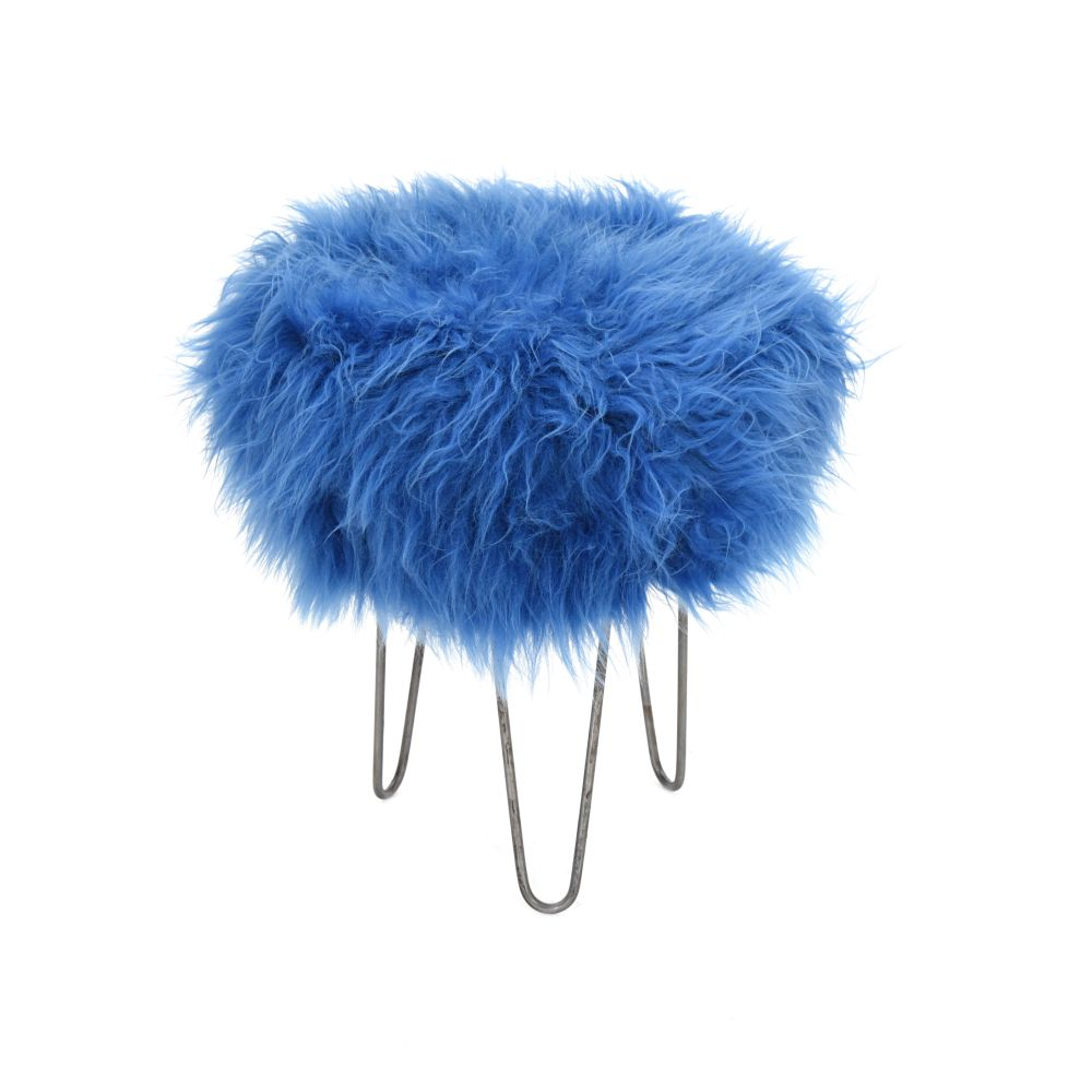 Holly Baa Stool in Cornflower Blue