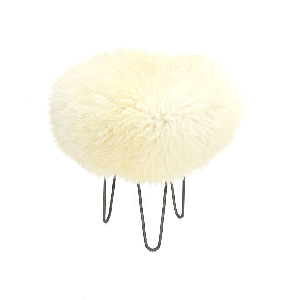 Holly Baa Stool in Ivory