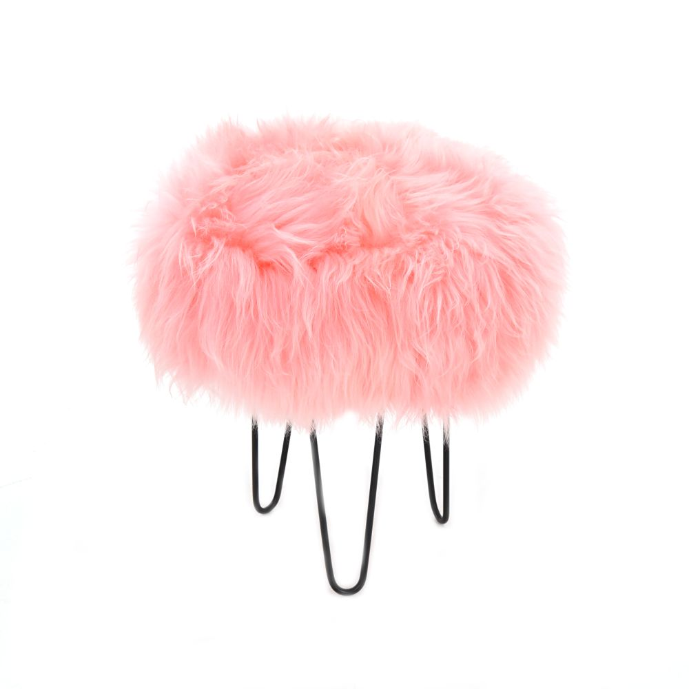 Gracie Baa Stool in Baby Pink