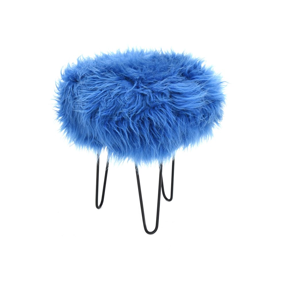 Gracie Baa Stool in Cornflower Blue
