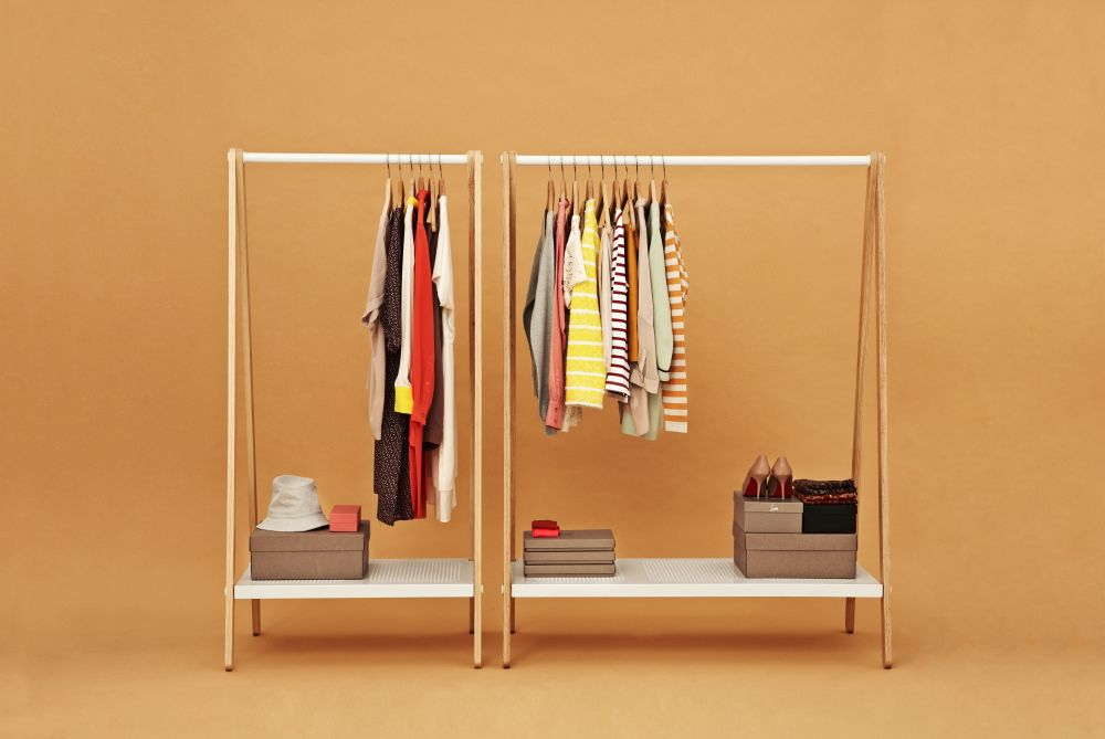 remodelista rack storage clothing wooden racks closet garment wardrobe easy freestanding ksilofon pieces cloth posts ana kras rails