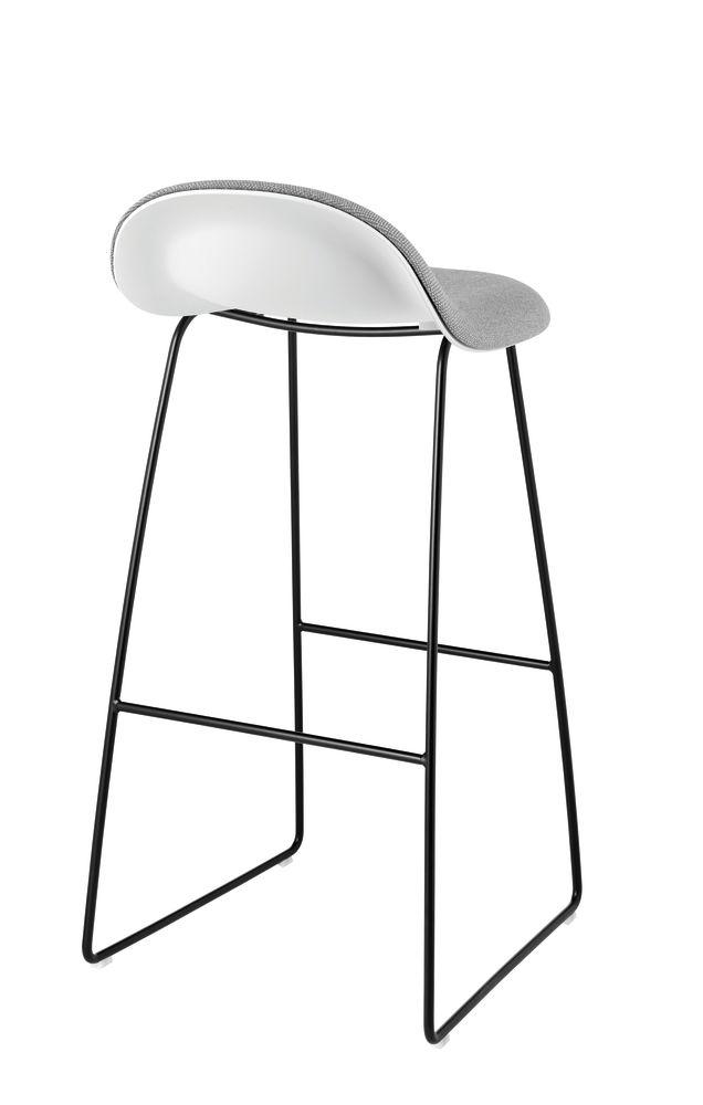 Gubi 3D Sledge Base Bar Stool - Front Upholstered by Gubi