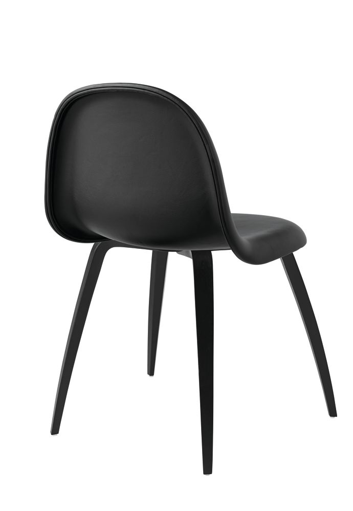 Gubi 3D Wood Base Dining Chair - Fully Upholstered by Gubi