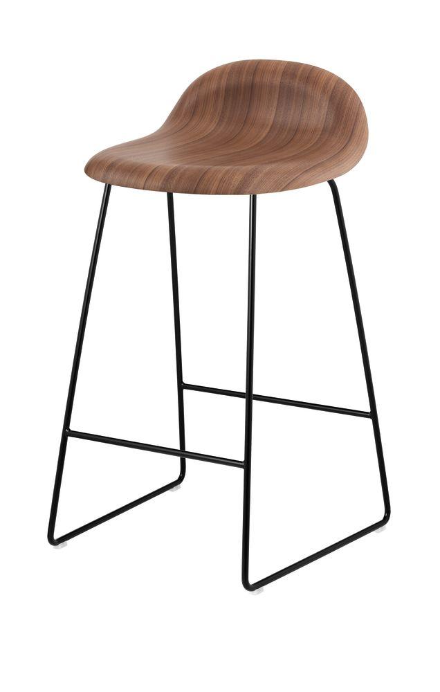 Gubi 3D Sledge Base Counter Stool - Unupholstered by Gubi