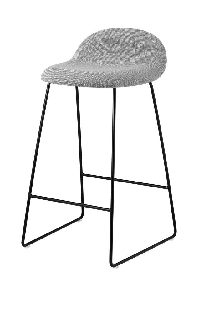 Gubi 3D Sledge Base Counter Stool - Fully Upholstered by Gubi