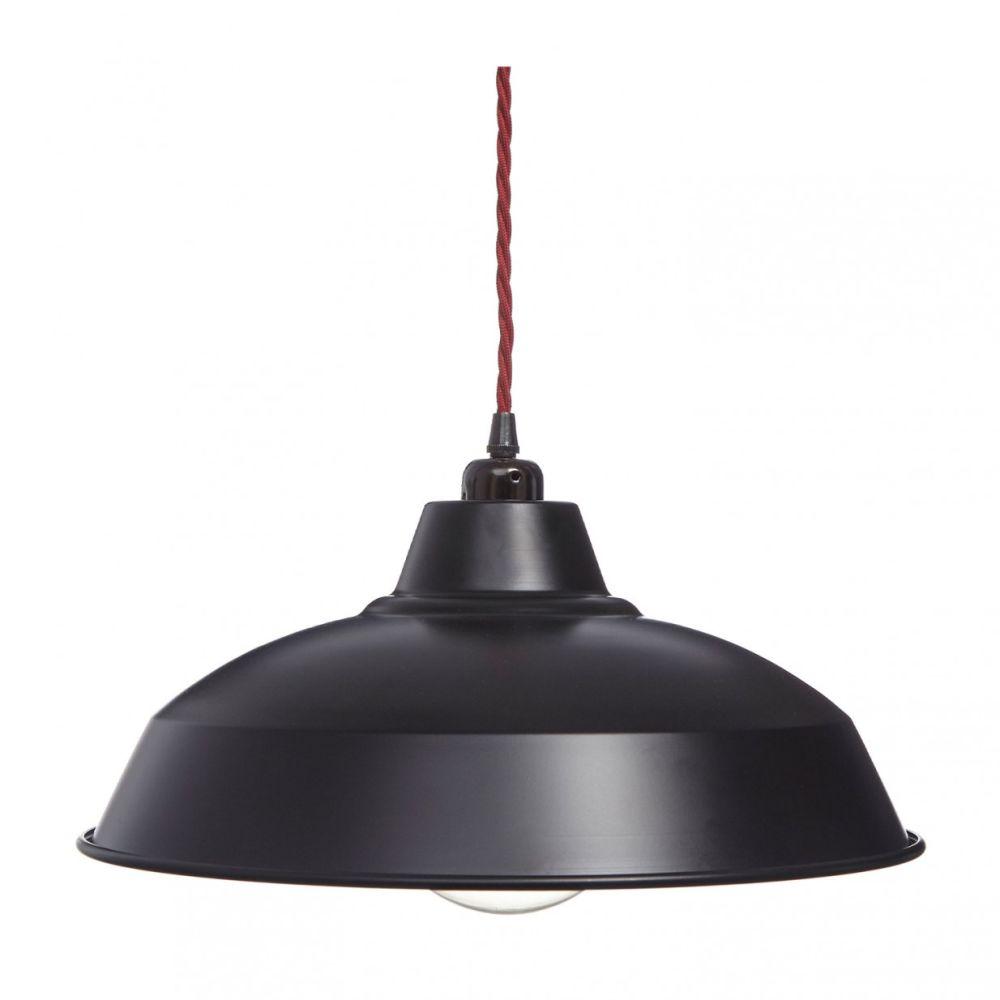Matt Black Industrial Lamp Shade by William and Watson