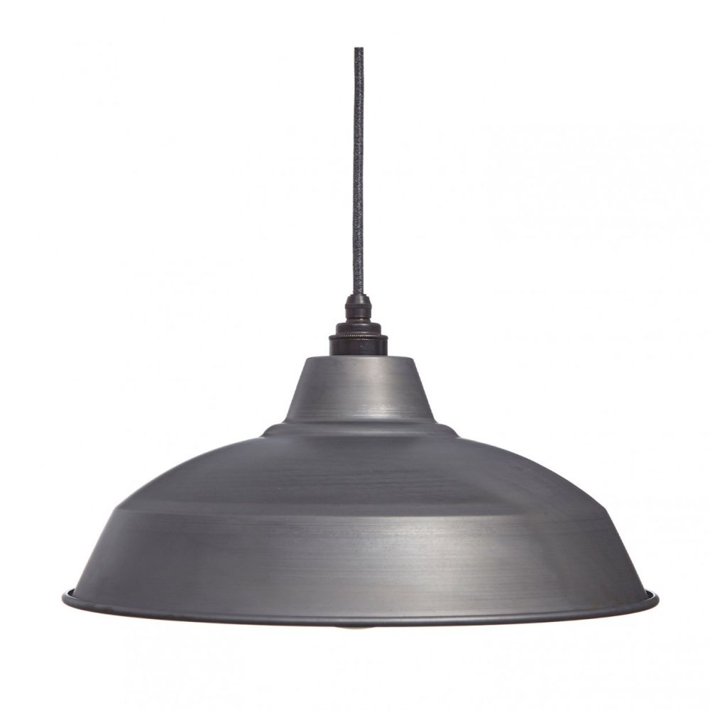 Raw Steel Industrial Lamp Shade by William and Watson