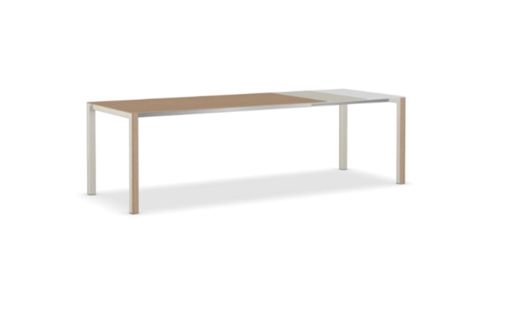 Thin k wood extensible table by kristalia for Table extensible kristalia