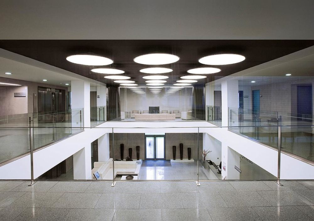 Big ceiling light led chrome 120cm 3000 by vibia big ceiling lamps are a lievore altherr molina design aloadofball Gallery