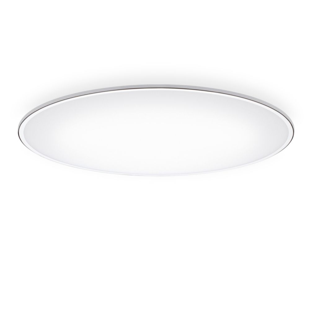 Big ceiling light led chrome 120cm 3000 by vibia mozeypictures Images