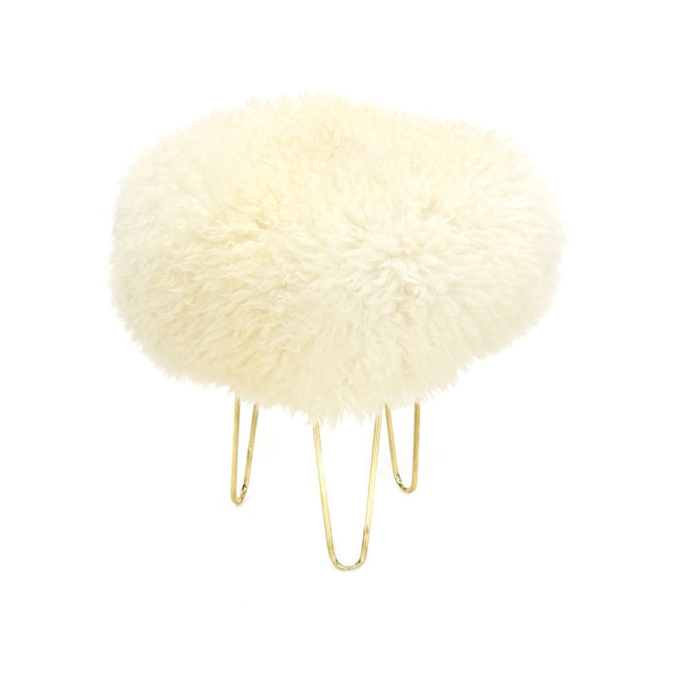 Nina Baa Stool in Ivory