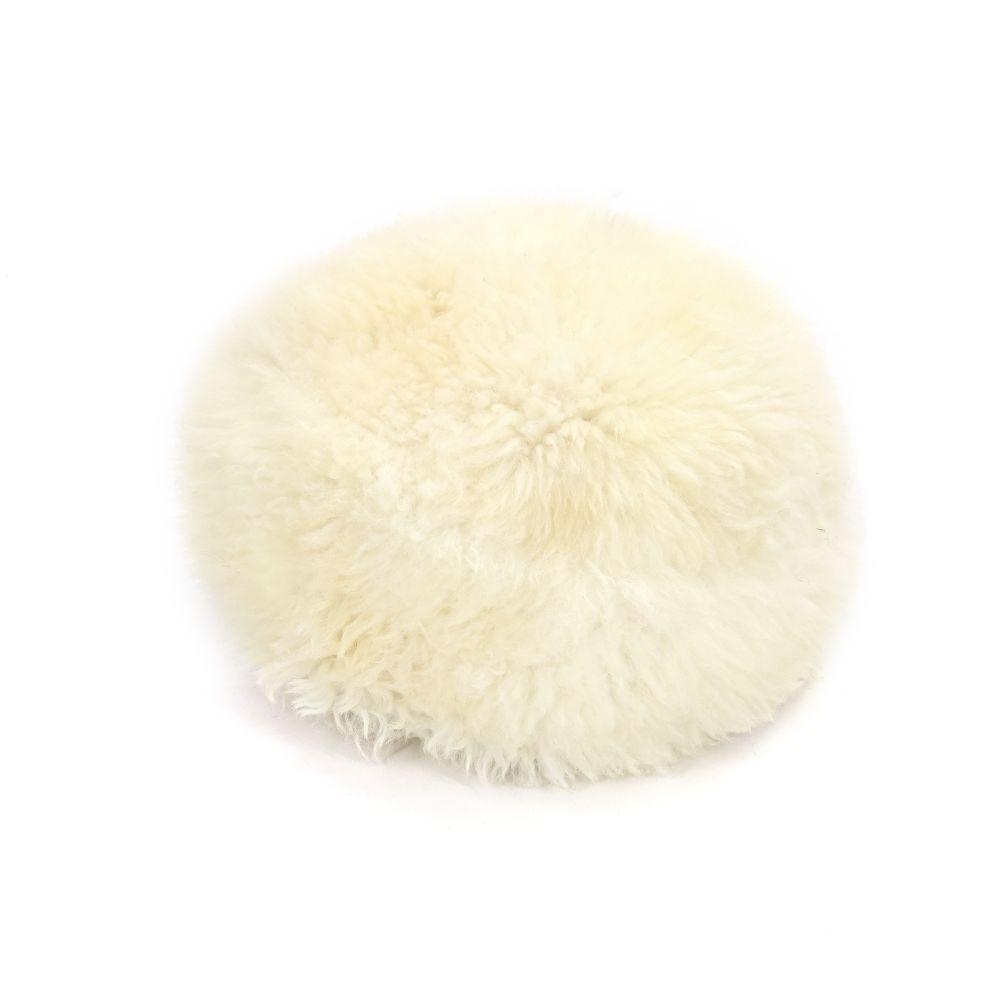 Sheepskin Baa Pouffe in Ivory