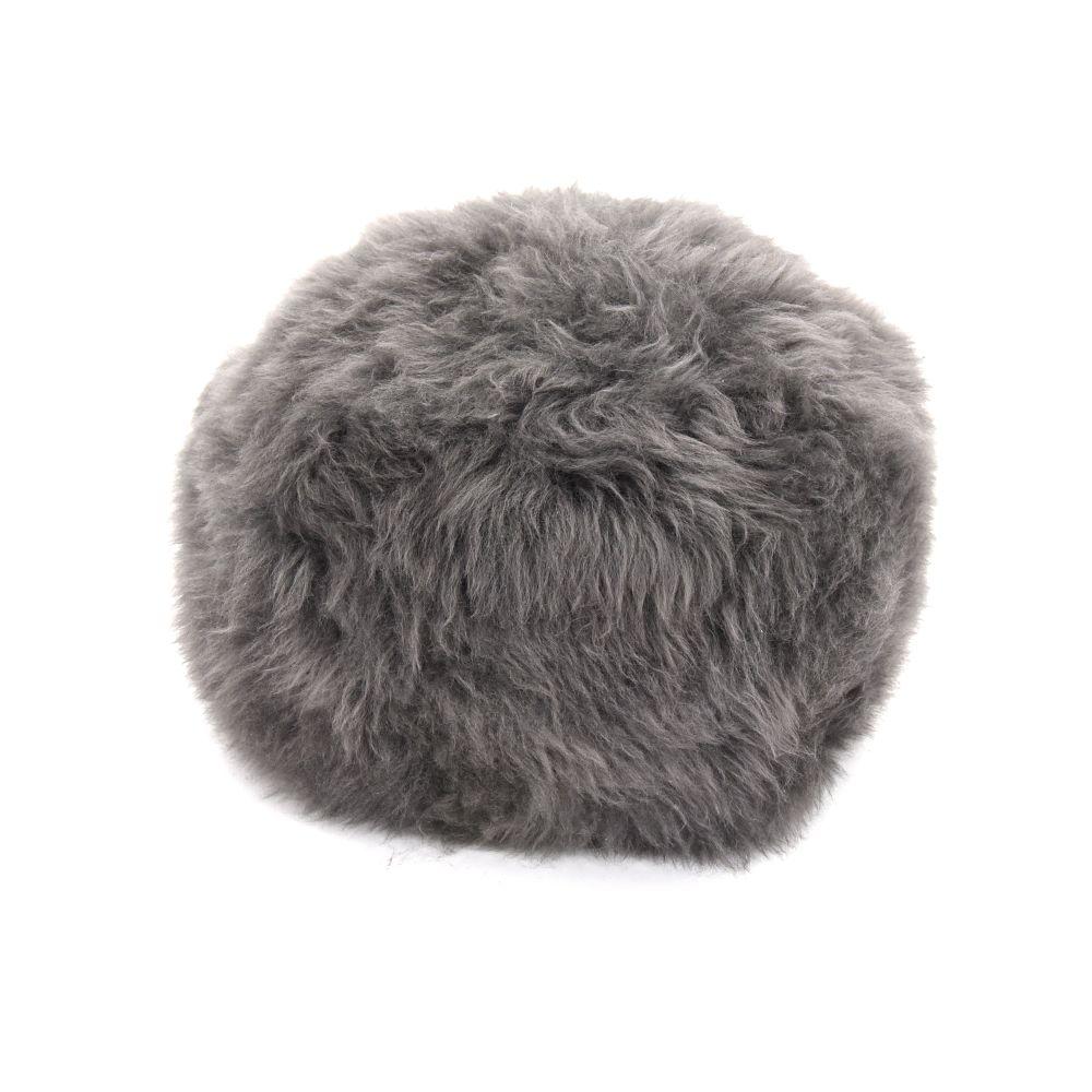 Sheepskin Baa Pouffe in Slate Grey