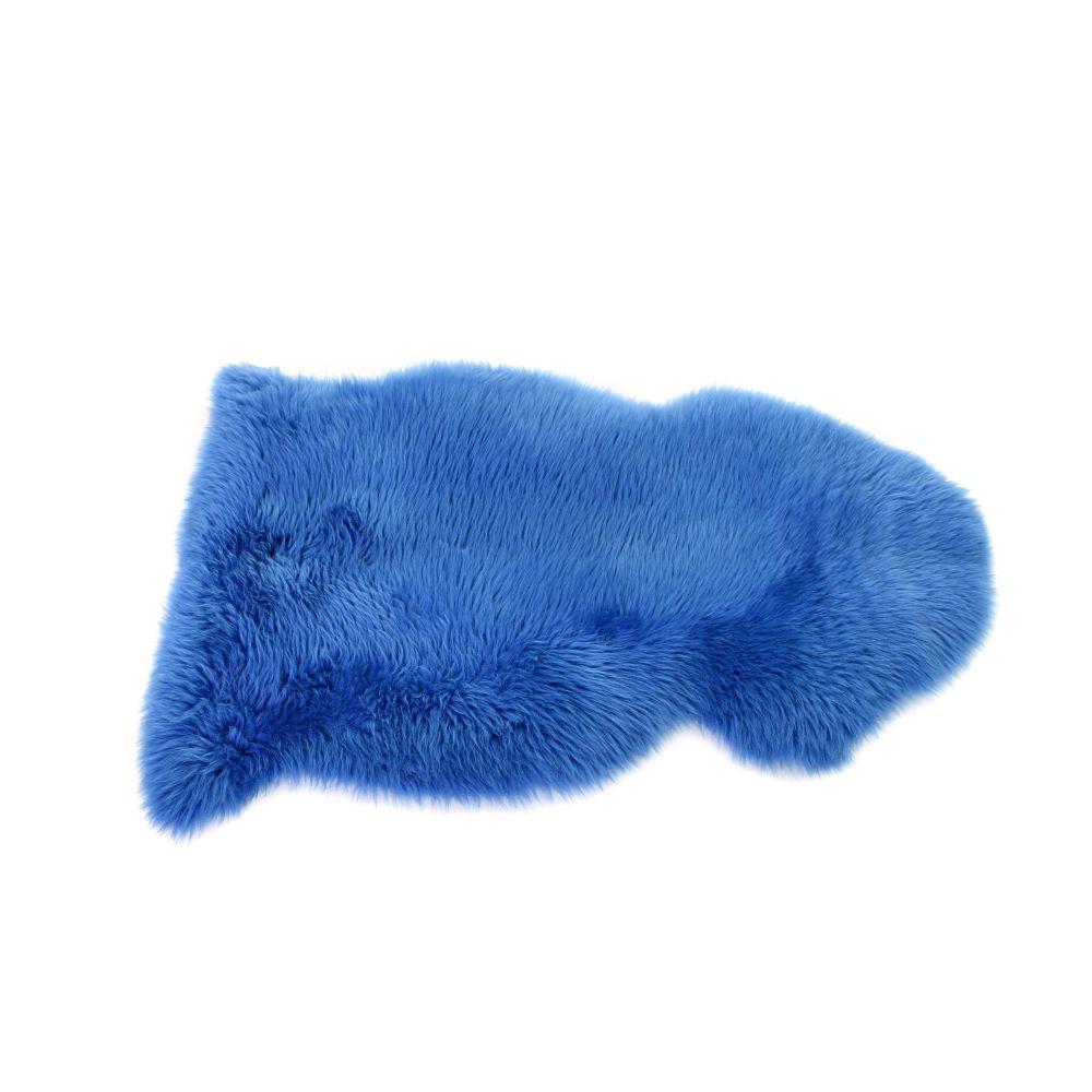 Sheepskin Rug in Cornflower Blue