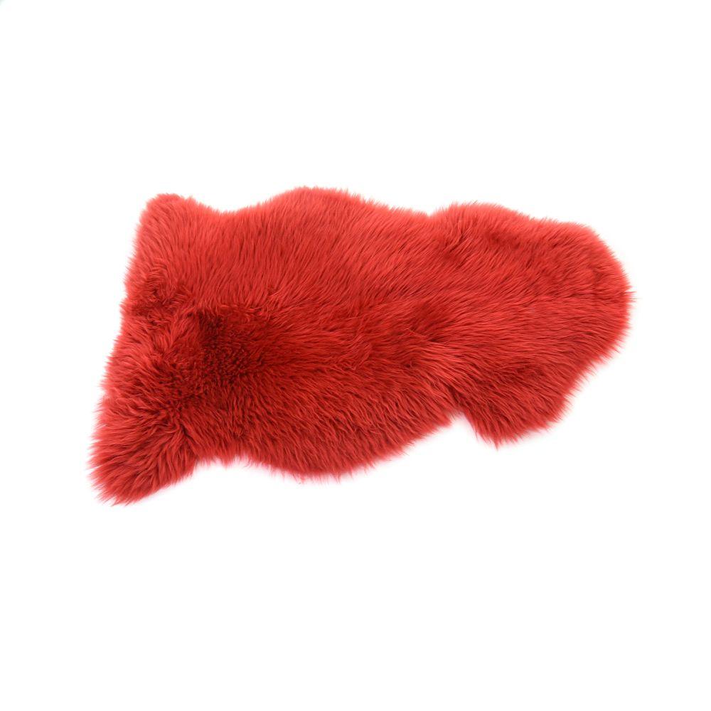 Sheepskin Rug in Dragon Red